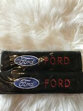 Us Stock 2pcs Ford  Embroidered Seat Belt Shoulder Pad Covers/High Quality