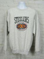 Vintage 1996 Super Bowl XXX Mens Sweatshirt Pittsburgh Steelers Sz XL NFL