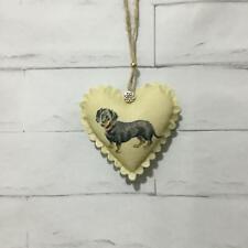 Dachshund Handmade Fabric Hanging Door Heart Shabby Chic Animal Decoration Gift