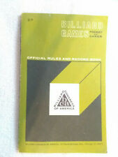 Pocket and Carom Billiard Games official rules and record book last revised 1970