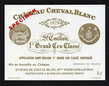 SAINT EMILION 1ER GCC VIEILLE ETIQUETTE CHATEAU CHEVAL BLANC 1979 §18/04/17§