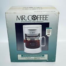 Vintage Mr Coffee 4 Cup Coffee Maker BL4 White Automatic Drip NEW Sealed 1993