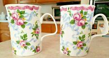 Roy Kirkham Trousseau 2 Mugs / Cups Exclusive Design Fine Bone China England