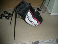 Used Nike Tiger Woods Buick Logo Golf Stand Bag Rare Black Red White