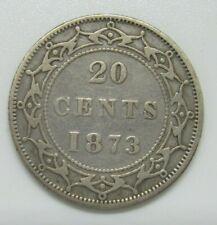 Newfoundland 1873 20 Cents, Fine +, Key date
