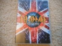 "DEF LEPPARD ""ROCK OF AGES"" (THE DVD COLLECTION) DVD 19 VIDEO'S PLUS BONUS"