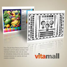 "Set of 9""x12"" High Resolution Test Charts for Lenses and Cameras by Vitamall"