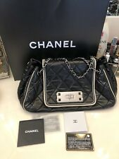 CHANEL Mademoiselle Lock East West Quilted Leather Accordian Flap Bag