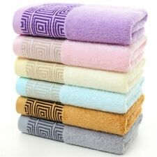 Bamboo Fiber Bath Towel Luxury Face Body Set Absorbent Bathroom Wash Cloths