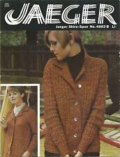 VINTAGE JAEGER KNITTING PATTERN 1960'S SMART JACKET