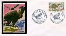 FDC PREMIER JOUR ANDORRE 1972 TIMBRE N° 219 FAUNE AIGLE ROYAL DES PYRENEES