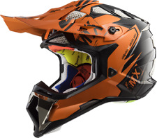 LS2 MX470 Subverter Emperor Motocross Helmet Orange Off Road Crash Lid Racing MX