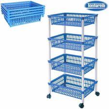 Carrito verdulero 4 cestos 40x85 mito azul / Tontarelli