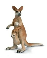 Schleich 14174 Retired Kangaroo with Joey Model Toy Figurine - NIP