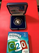 G20   ITALIA 5 euro 2020  FS Proof PRESIDENZA ITALIANA G20  BEST PRICE