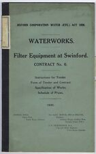 OXFORD Tender 24 Page Document for Works at Swinford Reservoir 1931