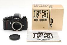 """"""" Near Mint in Box """" Nikon F3 HP SLR 35mm Film Camera Black Body from Japan #233"""