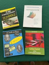 Lot of 4 T-I Graphing Calculator how to use books, Dummies & Calculus