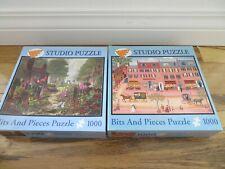 "2 Bits and Pieces Lot 1000 Pc Studio Jigsaw Puzzles Landscapes 20""x 27"""