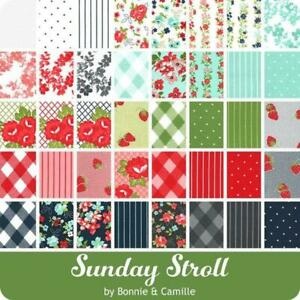 SUNDAY STROLL BY BONNIE AND CAMILLE FOR MODA FABRICS. CHARM PACK. New Release.