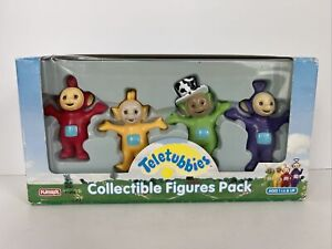 New 1998 playskool Teletubbies Collectible Figures 4 Pack Tinky Winky Dipsy Lala