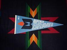 Buffalo Braves Original Vintage 1970's NBA Pennant  Columbia Blue Softer Felt