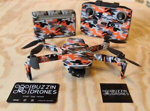 DJI Mini 2 Orange Camo skin, drone wrap, drone skin, camo, Vlos,