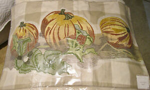 Pottery Barn PUMPKIN PATCH CHECK~Plaid~ Pillow Cover - 16 x 26 - NWT~Fall~Thanks