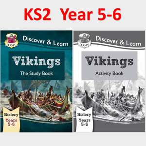 KS2 History Vikings Study and Activity Books Ages 9-11 CGP