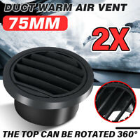 2X 75mm Diesel Heater Duct Warm Air Vent Outlet For Webasto Eberspacher Propex
