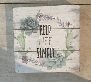 Keep Life Simple Wooden Decor