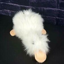 "Vintage 1989 Ganz Heritage Baby Googles 12"" Fluffy White Platypus Stuffed Animal"