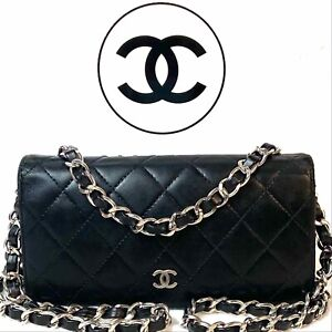 AUTHENTIC CHANEL CC Quilted Lambskin Bifold Long Wallet~p🇺🇸 US SELLER