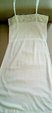 French Vintage 1940's White Cotton and lace Shift Sundress Size 10