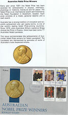 """2012 Noble Prize Winners set 5 booklet stamps on limited edition """"K"""" Covers FDC"""