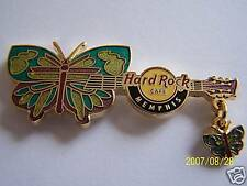 2007 HARD ROCK CAFE MEMPHIS BUTTERFLY DANGLE GUITAR SERIES LE PIN