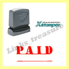 Authentic Xstamper VX 1221 Paid Stamp Red AU Stock