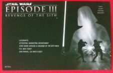 Star Wars: Revenge Of The Sith - The Video Game Promo Card Insert - LucasArts