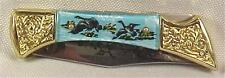 Wild Mallards Decorative Folding Knife Vintage Excellent Condition