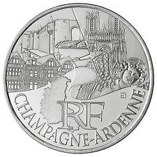 Pièce 10 euros régions 2011 Champagne Ardennes en argent issue de rouleau - neuf