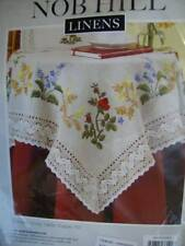 Nob Hill Garden Array Table Topper Crewel Embroidery Kit 33x33 Inches Tablecloth