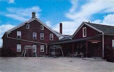 Amana Iowa~Ox Yoke Inn Entrance, Parking Lot~Swing Sets 1950s PC