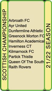 * NEW FOR 21/22 SEASON * Football Trading Cards - Scottish Championship