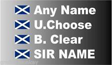 SMALL Scotland Rally Car Name decal sticker graphics