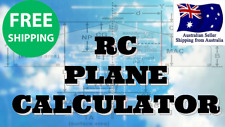 SIMPLE & EASY RC PLANE CALCULATOR Air Remote Transmitter Receiver Motor LIPO