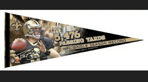 DREW BREES 2011 PASSING RECORD New Orleans Saints Premium Felt Collector PENNANT