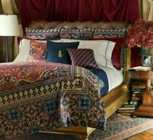 "New RALPH LAUREN Poet's Society Needlepoint Tapestry Throw Pillow 16"""