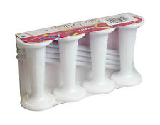 PACK OF 4 WEDDING CAKE PILLAR-& DOWEL SET-WHITE-3""