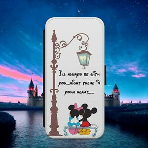 DISNEY MICKEY MINNIE FLIP WALLET PHONE CASE COVER FOR IPHONE SAMSUNG HUAWEI