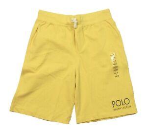 Polo Ralph Lauren Boys Yellow Logo Print Drawstring Shorts